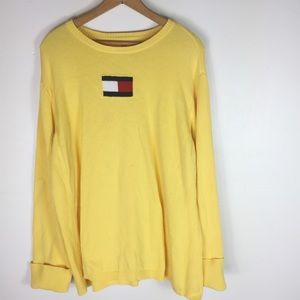 Tommy Hilfiger Women's Yellow Logo Vintage Sweater